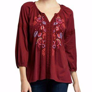 """Johnny Was """"Marcella"""" peasant blouse,COTTON JERSEY"""